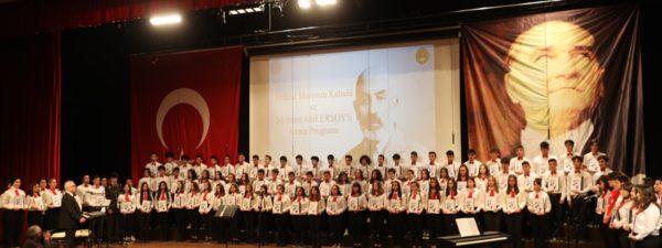 Mehmet Akif Ersoy Törenle Anıldı