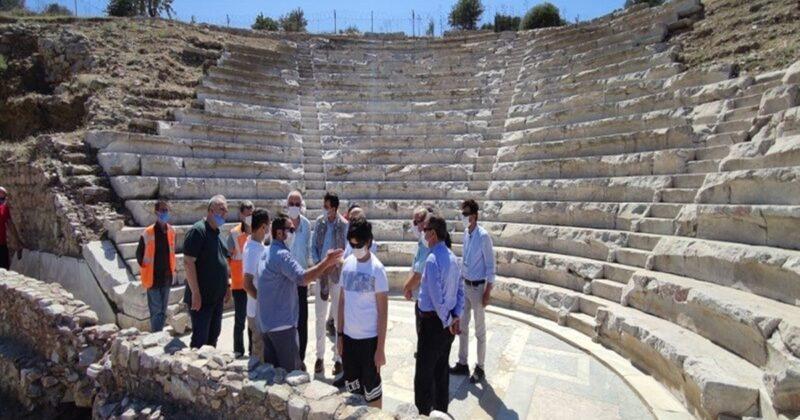Vali Aktaş, Parion Antik Kentinde İncelemelerde Bulundu