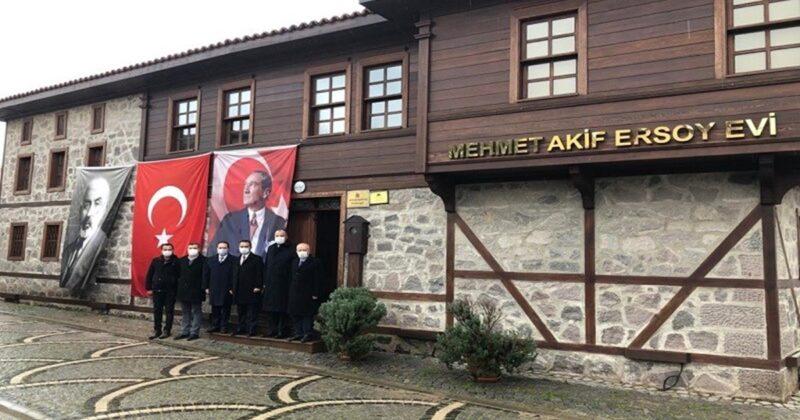 Mehmet Akif Ersoy Müze Evini Ziyaret Etti