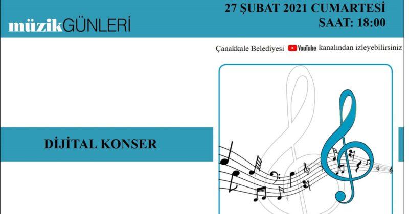 Çanakkale Belediyesi'nden Dijital Konser