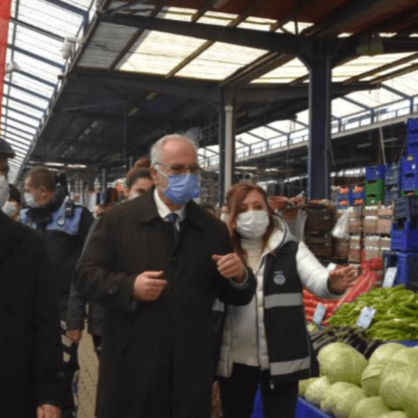 Vali Aktaş ve Başkan Gökhan'dan Pazar Ziyareti