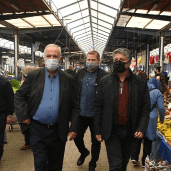 Başkan Gökhan Pazar Alanını Denetledi