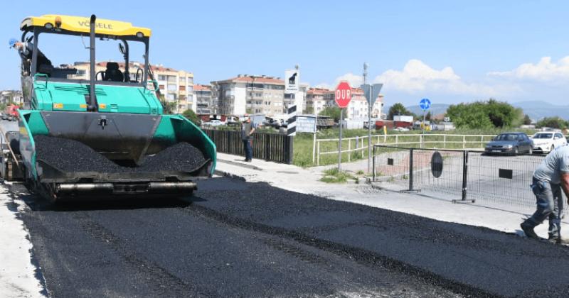 Troya Caddesinde Yol Bakım ve Onarım Çalışması