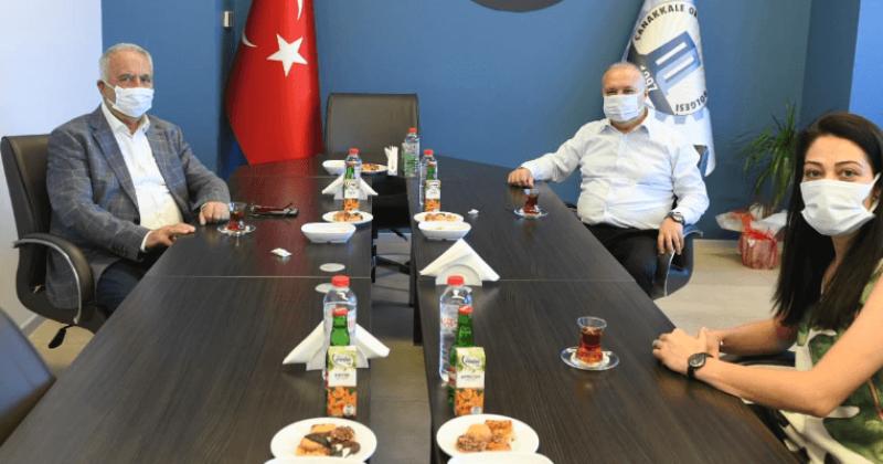Başkan Gökhan'dan OSB Başkanı Ersoy'a Ziyaret