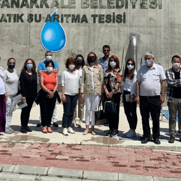 İZSU ve İSU Yetkililerinden Güzelyalı-Dardanos İleri Biyolojik Atıksu Arıtma Tesisine Teknik Ziyaret