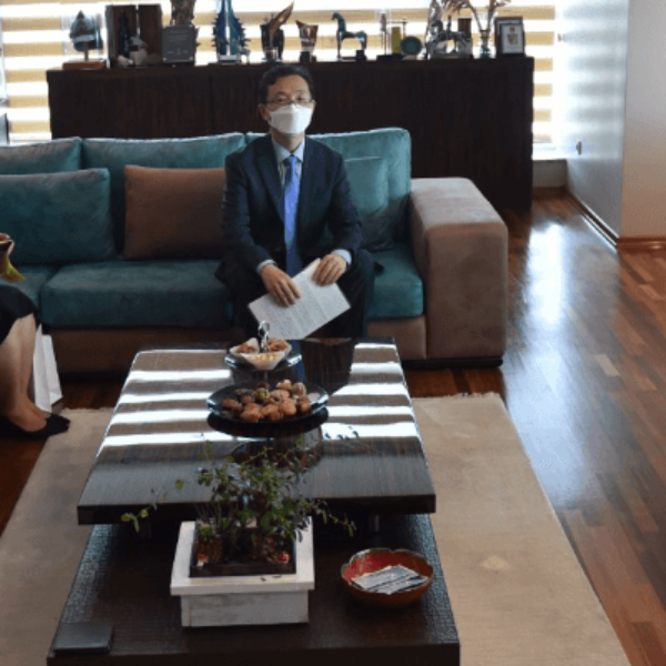 Kore İstanbul Başkonsolosu Woo'dan Başkan Gökhan'a Ziyaret
