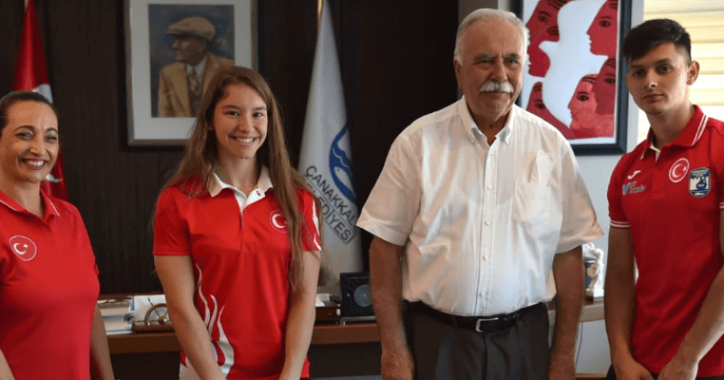 Şampiyondan Başkan Gökhan'a Ziyaret