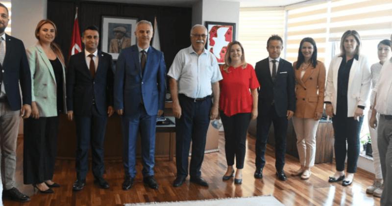 Baro Başkanı Aydın ve Yöentiminden Başkan Gökhan'a Ziyaret