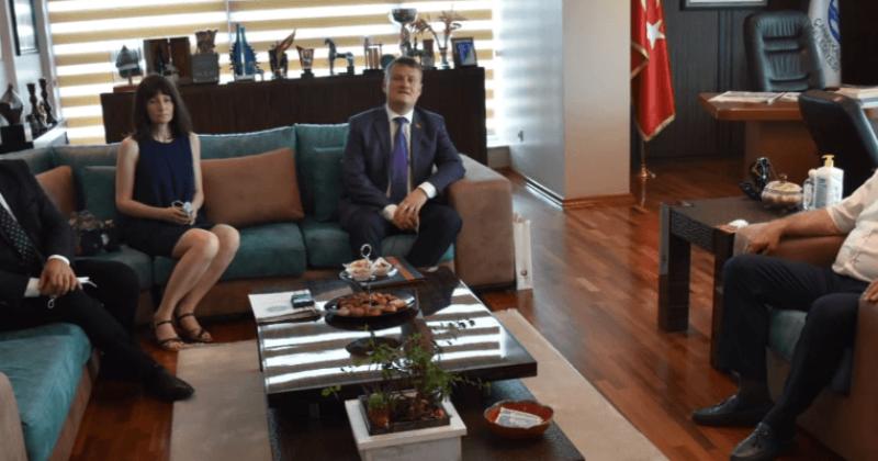 Başkan Gökhan, Başkonsolos Shved'i Makamında Ağırladı