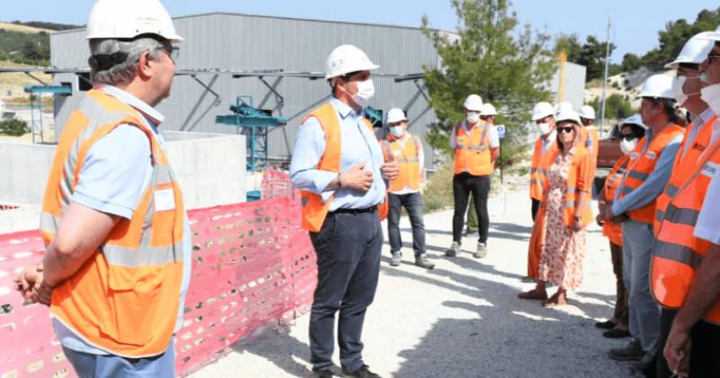 Başkan Gökhan ve ÇAKAB Üyesi Belediye Başkanları Düzenli Depolama Alanını Gezdi