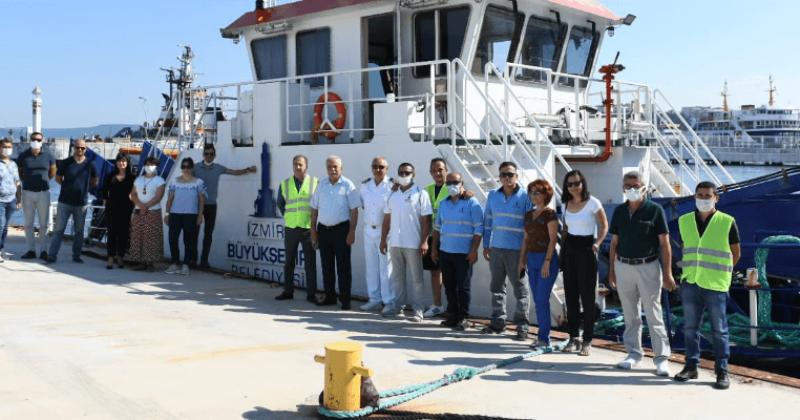 Mavi Körfez 3 Deniz Süpürge Gemisi Çanakkale'de