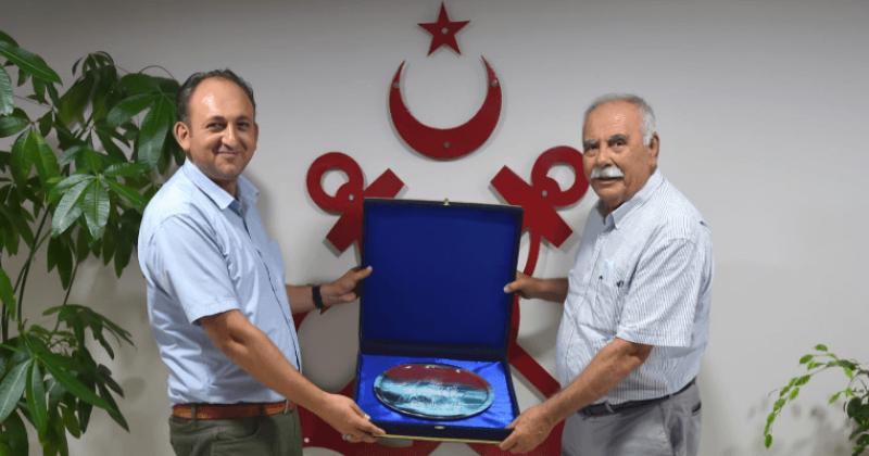 Başkan Gökhan'dan Liman Başkanı Aydemir'e İade-i Ziyaret