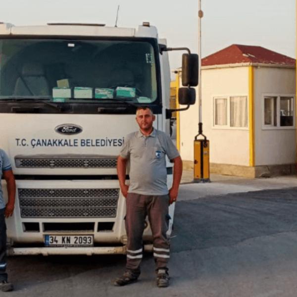 Çanakkale Belediyesinden Yangın Söndürme Çalışmalarına Destek
