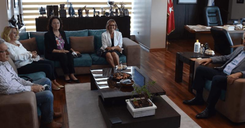 Başkan Gökhan Çağdaş Eğitim Kooperatifini Ağırladı