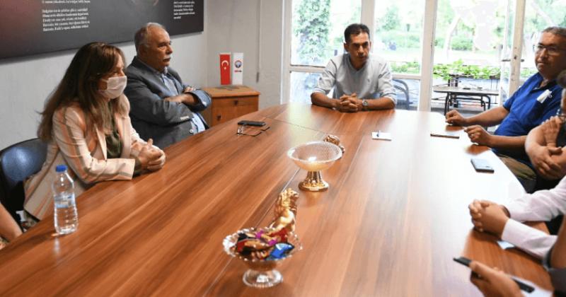 Başkan Gökhan'dan Eğitim-İş'e Ziyaret
