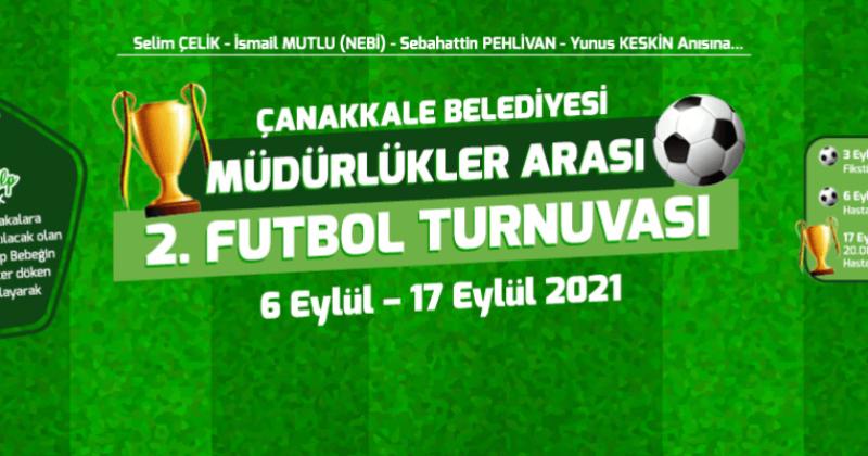 Çanakkale Belediyesi Müdürlükler Arası Futbol Turnuvası Başlıyor