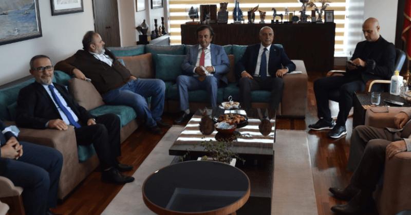 Müteahhitler Birliğinden Başkan Gökhan'a Ziyaret