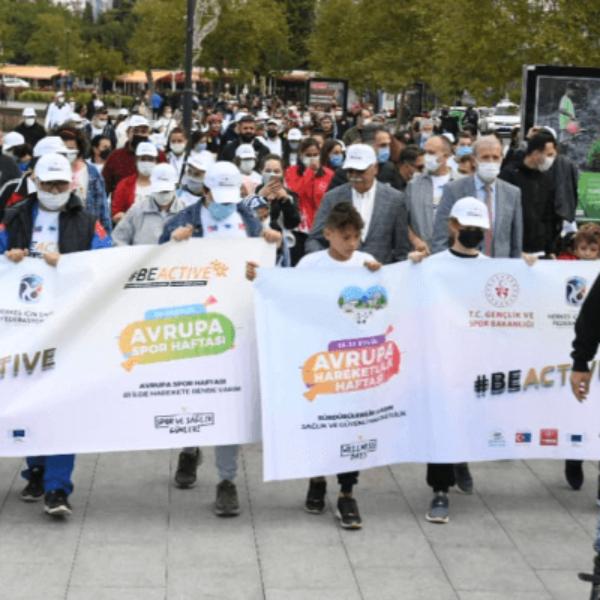 Spor Haftası Etkinlikleri Sıhhatli Yaşam Yürüyüşü İle Başladı