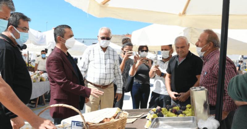 Vali Aktaş ve Başkan Gökhan Harmanlık Pazar Alanını Ziyaret Etti