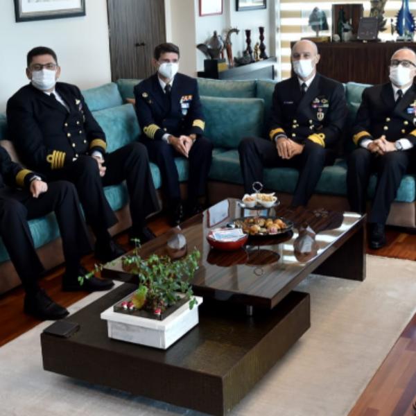 Nusret-21 Davet Tatbikatı Heyeti Başkan Gökhan'ı Ziyaret Etti